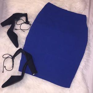 Charlotte Russe Blue Pencil Skirt